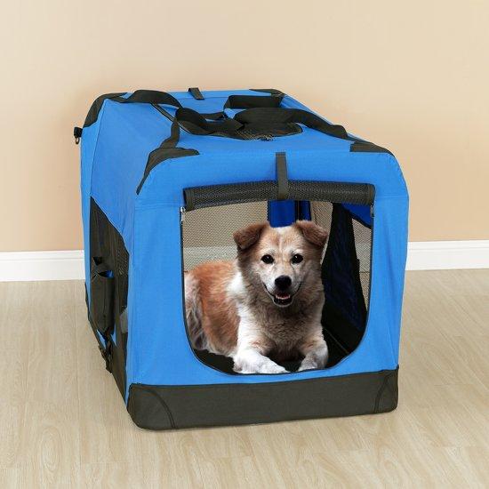 [pro.tec]® Dieren transportbox - reismand - koningsblauw - S