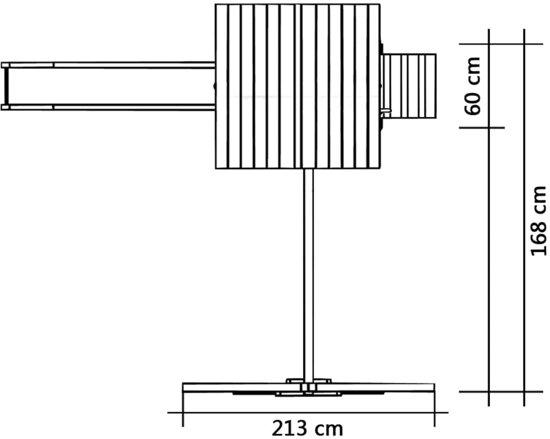 vidaXL Speelhuis met glijbaan en ladders 237x168x218 cm FSC hout