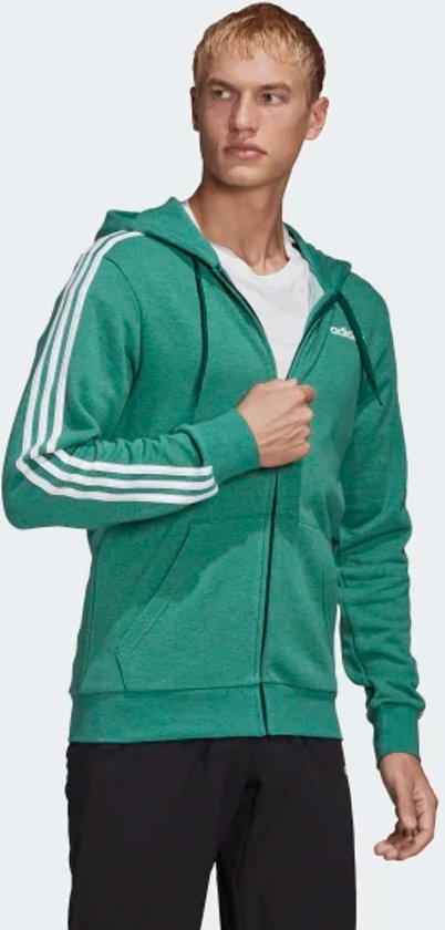 adidas Essentials 3 Stripes vest heren groenwit