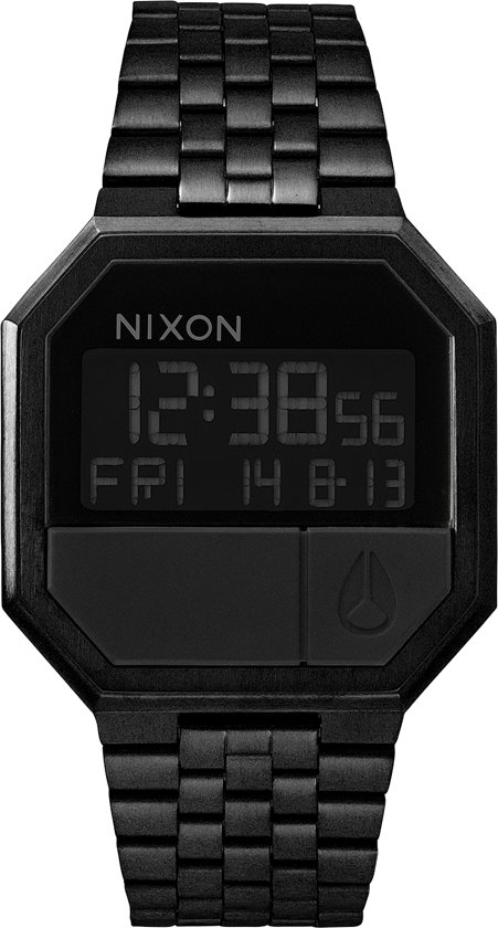 Nixon A158001 Re-Run all black - Horloge - 38mm - Zwart