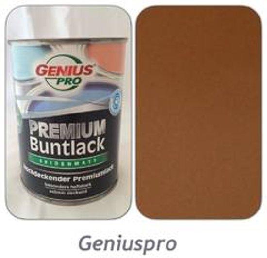 Genius PRO Premium kleurlak / verf extreem dekkend zijdeglans okerbruin