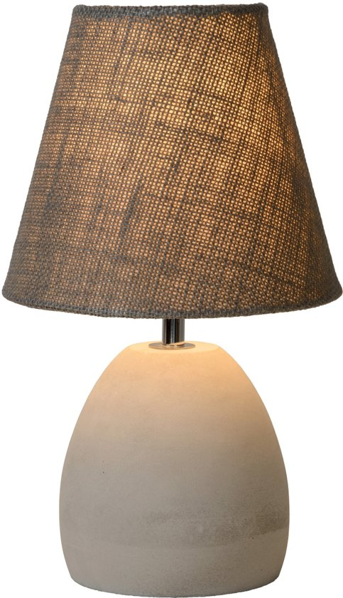 bol lucide solo tafellamp à 18 cm taupe