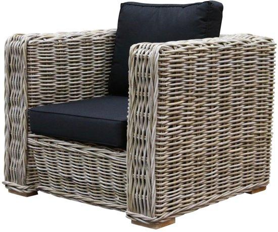 Rotan Lounge Stoel : Bol nissah lounge stoel natural rotan black