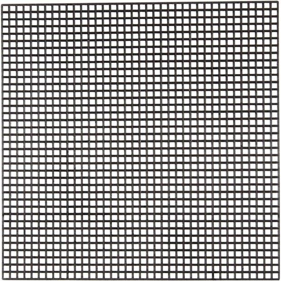 Plastic borduur stramien, afm 14x14 cm, zwart, 50 vellen