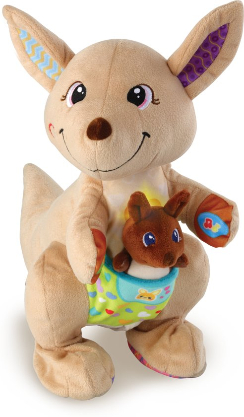 VTech Baby Spring & Speel Kangoeroe - Interactieve Knuffel