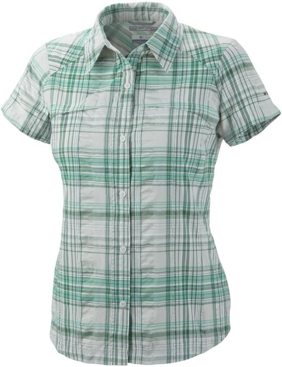 Mouwen Groen Multiplaid Maat Ridge Sleeve Blouse Korte S Columbia Short ShirtDames Geruit Silver wit JlK13FTc