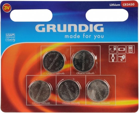 Grundig CR2450 Knoopcel batterij - 5 stuks