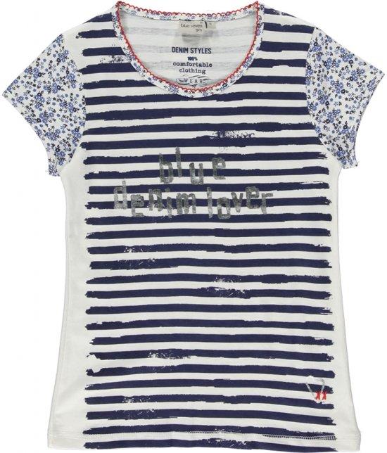 Bekend bol.com | Blue Seven Meisjes Shirt Blauw Wit gestreept - Maat 140 UM88