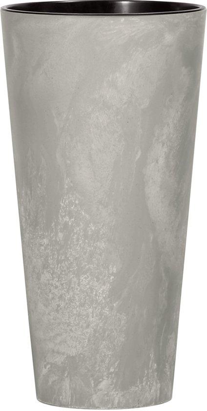 Mooie Bloempotten Voor Binnen.Bloempot Buiten Hoog Rond Tubus Slim 30cm Beton Prosperplast