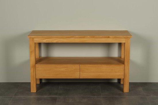 Wastafel 140 Cm : Bol.com teakhouten badmeubel console table breed 140 cm.