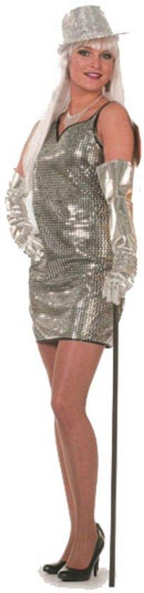 zilveren glitter jurk