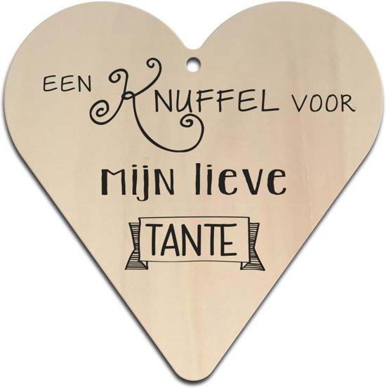 Bolcom Houten Gift Heart Lieve Tante 16x16cm 130007122016