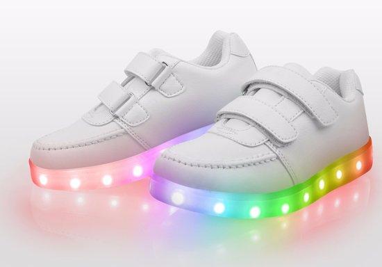 Maat Kinderschoenen.Bol Com Lichtgevende Disco Sneakers Schoenen Led Maat 25