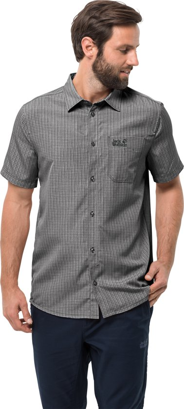 Shirt Black Outdoorblouse Jack Wolfskin El Heren Dorado Checks Men zwqwTBxPt