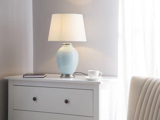 Bol beliani brenta tafellamp keramiek blauw