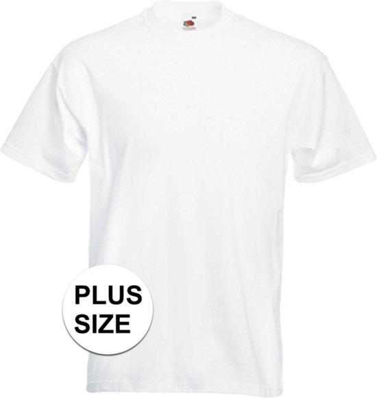 nieuwe foto's officiële winkel koop goed Grote maten basic witte t-shirt voor heren - voordelige katoenen shirts 5XL  (50/62)