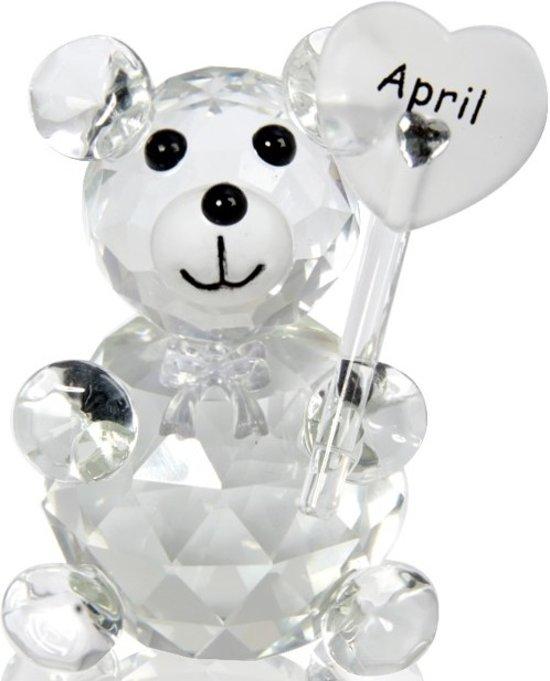 Kristalglas beer geboorte maand april