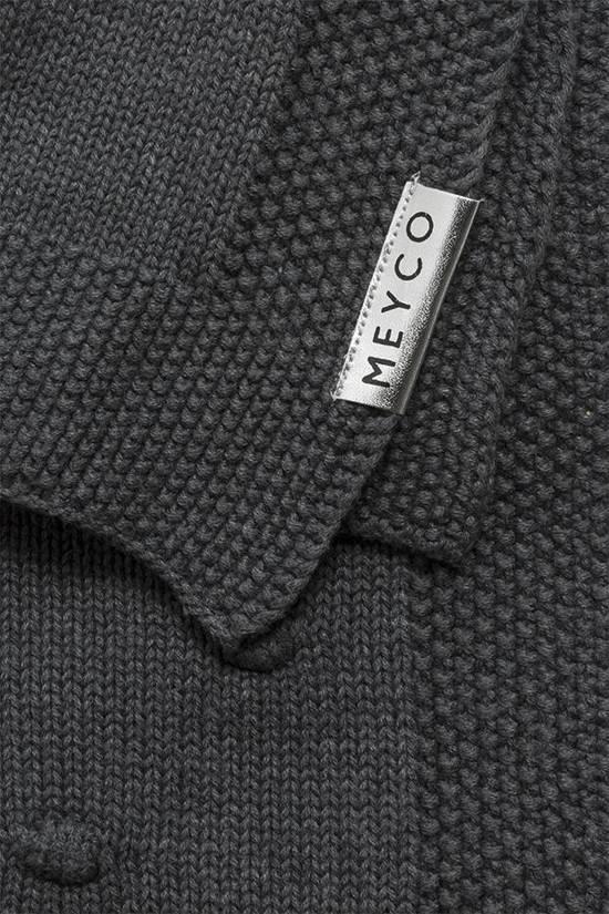 Meyco Silverline Knots wiegdeken - 75 x 100 cm - donkergrijs