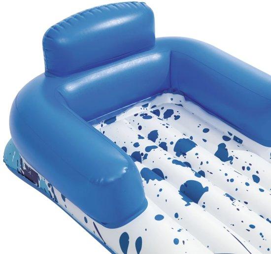 Bestway Ligbed drijvend CoolerZ 84x161 cm blauw en wit