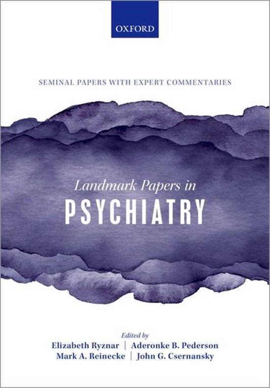 Landmark Papers in Psychiatry
