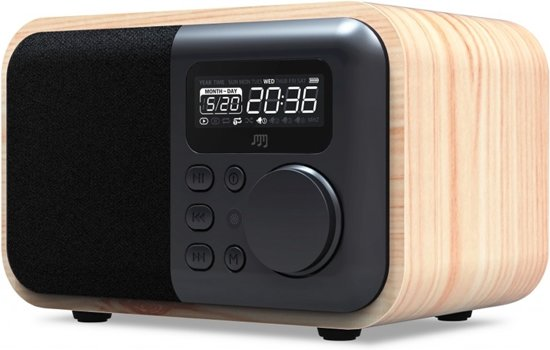 stereoboomm wood box bluetooth speaker en radio. Black Bedroom Furniture Sets. Home Design Ideas