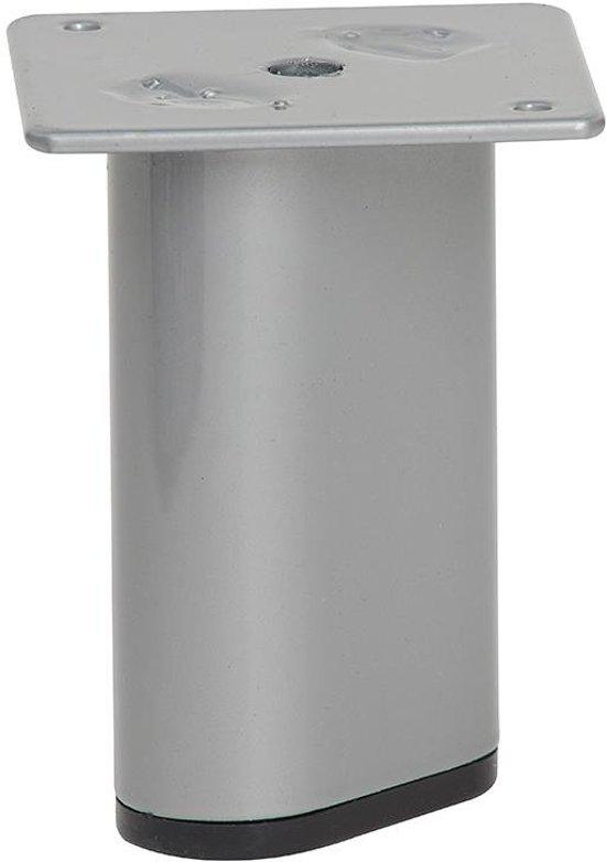 Grijze ovale meubelpoot 9,5 cm