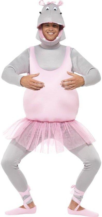 Nijlpaard ballerina humoristische pak voor volwassenen  - Verkleedkleding - One size