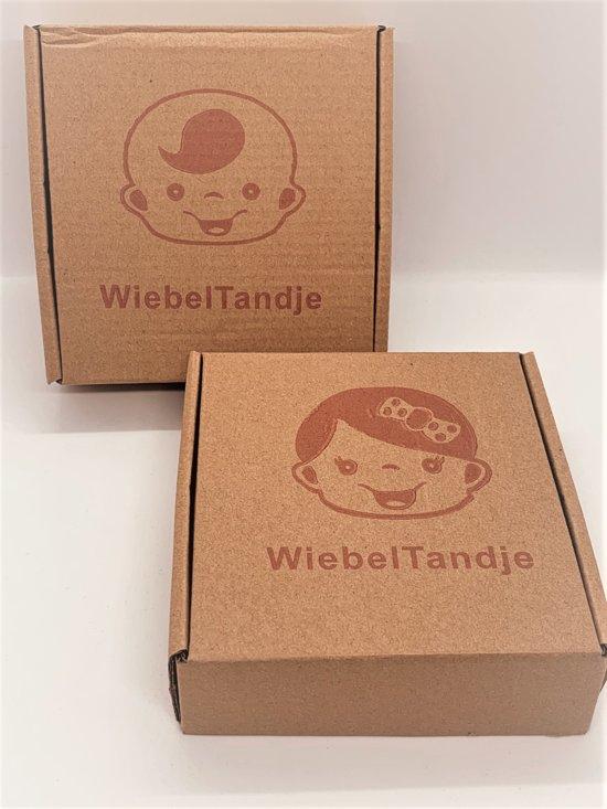WiebelTandje - Houten Tandendoosje Nederlands voor Melk Tanden van Tandenfee met Geschenk Doosje – Meisje/Zwart
