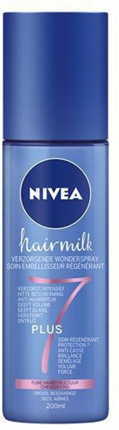 NIVEA Hairmilk Verzorgende Wonderspray voor Fijn Haar - 200 ml