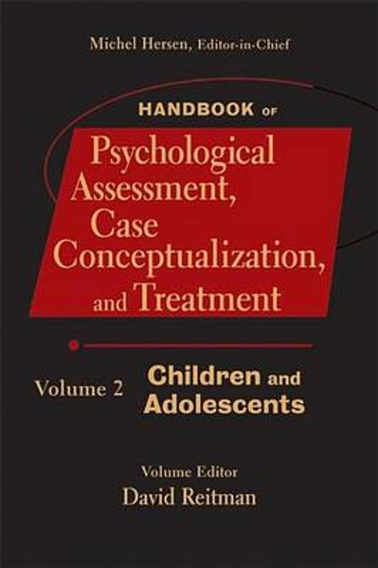 Handbook of Psychological Assessment, Case Conceptualization, and Treatment, Volume 2