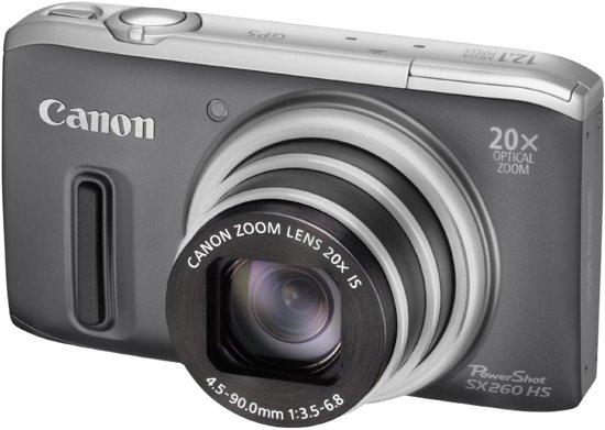 Canon PowerShot SX260 HS - Grijs