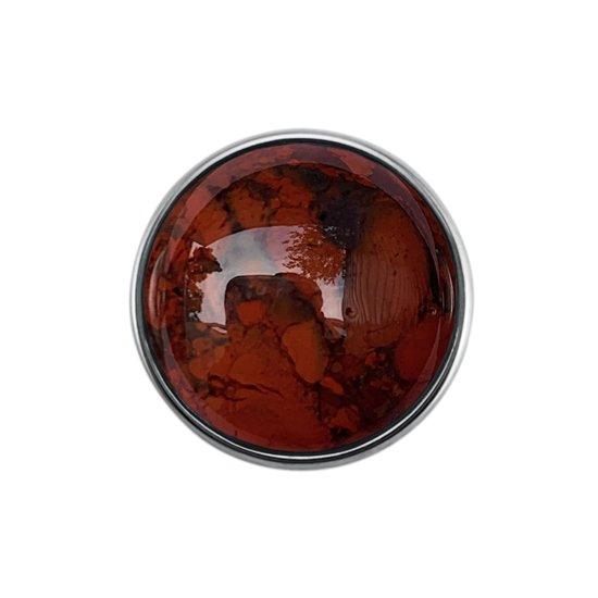 Quiges - Drukknoop 18mm Natuursteen Mixkleur - EBCM228