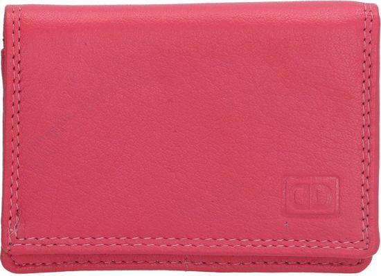 8a8f15d3254 bol.com | Double D leren dames mini portemonnee Pink Roze - Gratis ...