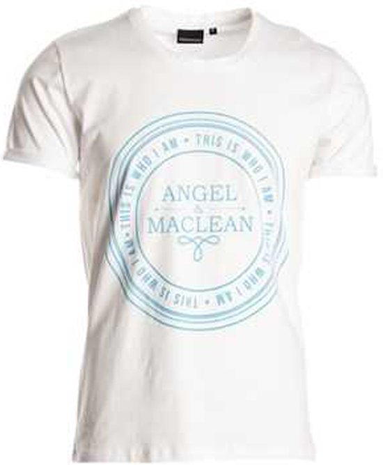 Angel & MacLean maat 128 shirt wit korte mouw