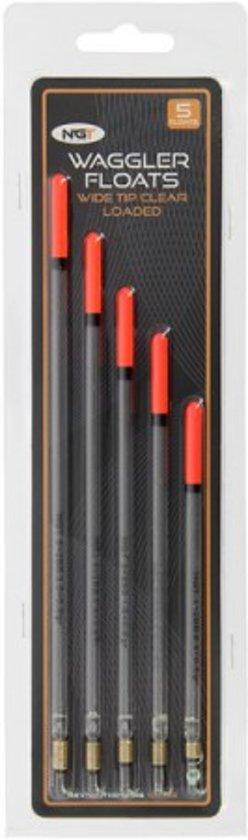 NGT Voorgelode waggler dobbers - 5 stuks - verschillende gewichten - Oranje top