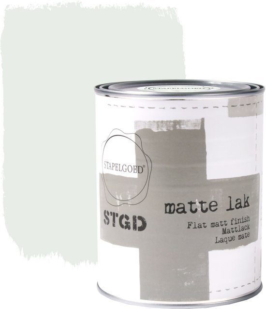 Stapelgoed - Matte Lak - Ash - Groen - 1L