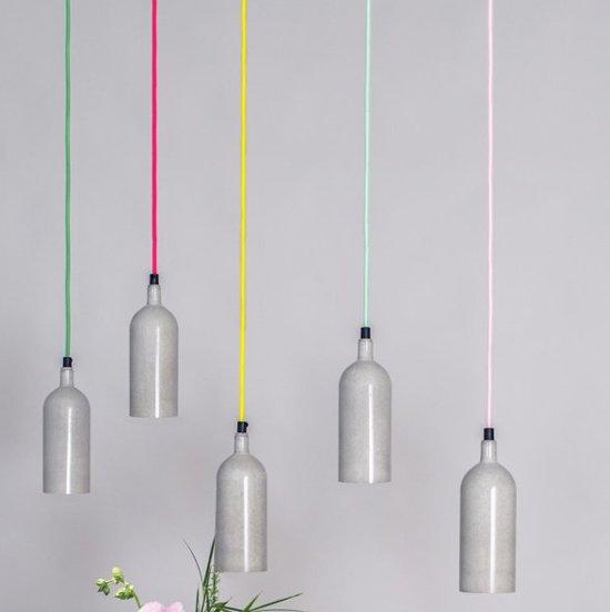 Dutch Design betonnen hanglamp - Neon Roze