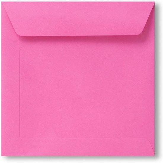 Envelop 19 x 19 Knalroze, 100 stuks