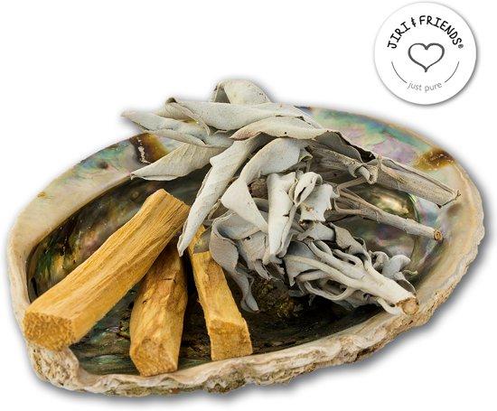 Reinig je huis pakket XL Original| Jiri Friends | Smudge Kit | Smudgekit Witte salie, Palo Santo sticks, Abalone schelp