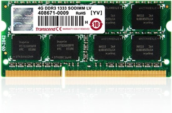 Transcend DDR3 1600 SO-DIMM 8GB geheugenmodule 1600 MHz
