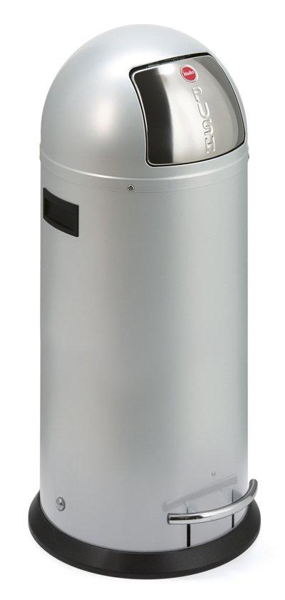 Hailo Kickmaxx Prullenbak - 50 l - Zilver