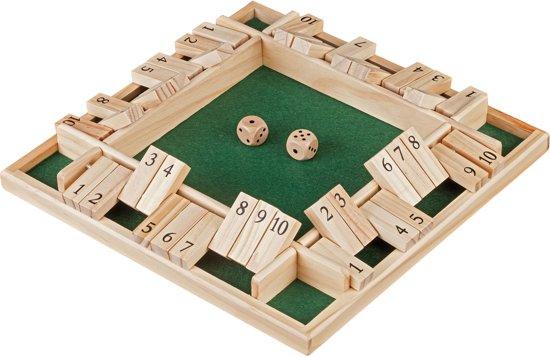 Philos Shut The box 10 - 4 Spelers - 29 x 29 x 3.5 cm