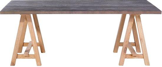eettafel grijs hout