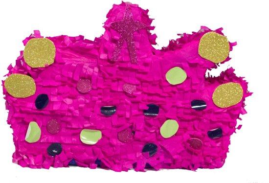 Pinata roze kroon met stippen