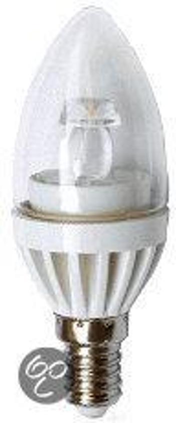 Foruijn Led lamp vier stuks LED E14-Bullet-kaarslampen-3 Watt-Dimbaar (230Volt)