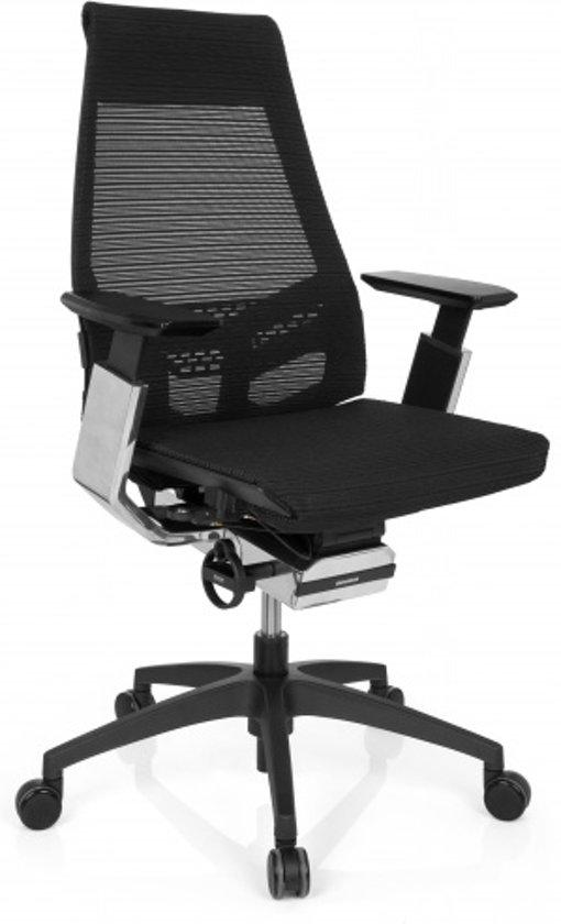 hjh office Genidia Smart Black CM - Bureaustoel -  Netstof - Zwart / chroom