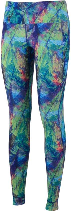 Asics Graphic Tight  Sportbroek - Maat L  - Vrouwen - groen/blauw/paars
