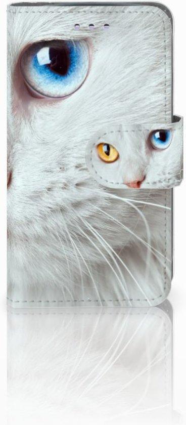 Samsung Galaxy S3 Mini Uniek Ontworpen Cover Witte Kat in Tillet
