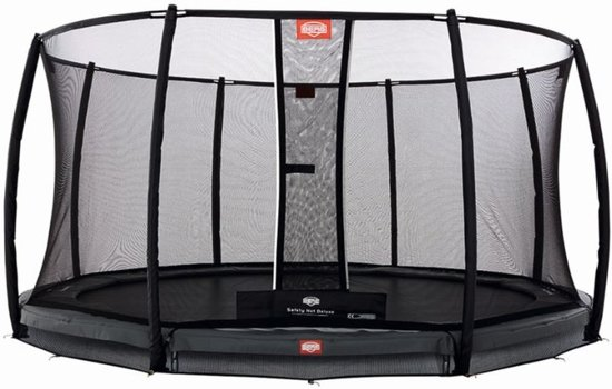 BERG InGround Champion 380 grijs + Safety Net Deluxe 380
