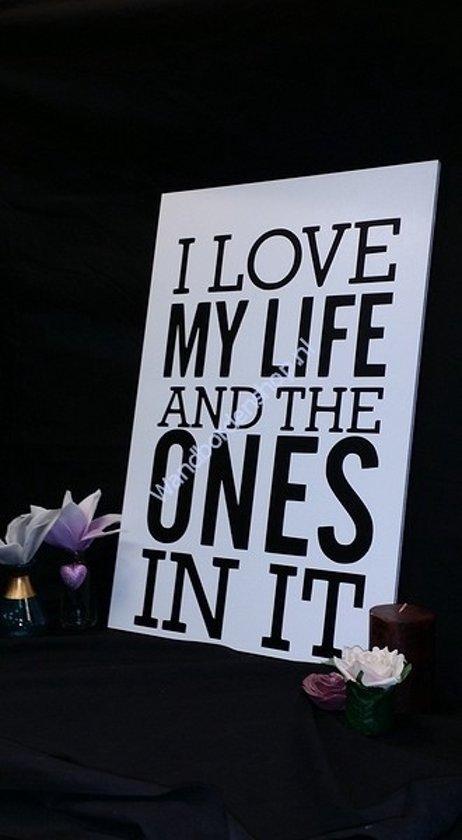 Bolcom Tekstbord I Love My Life